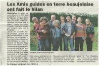 Les Amis Guides en Terre Beaujolaise ont fait le bilan