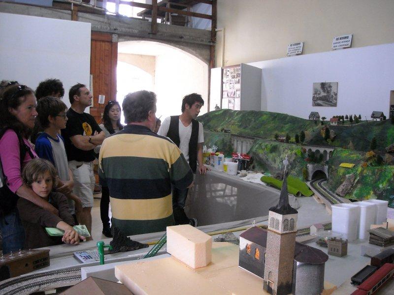 Visite du patrimoine feroviaire, maquette de la boucle